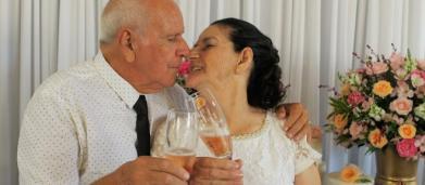 Casal de idosos que se conheceu no Tinder oficializa união: 'mandei um like e ele curtiu'