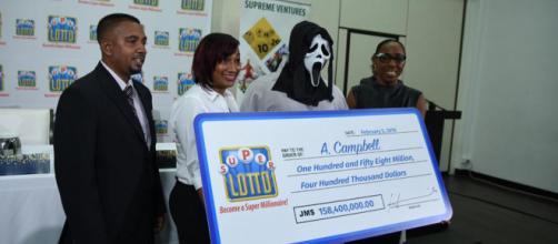 A. Campbell, vencedor da loteria (Reprodução/Twitter)