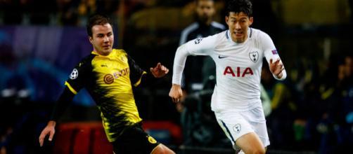 Götze e Son são as esperanças dos desfalcados Dortmund e Tottenham. (Foto: Uefa)