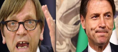 Guy Verhofstadt insulta Giuseppe Conte, le reazioni italiane