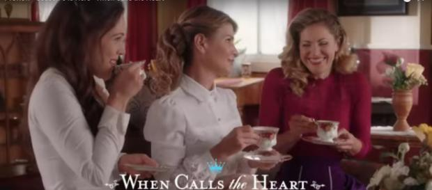 Erin Krakow and her When Calls the Heart castmates love to have fun and do great work on the drama. [Image source: Hallmark Channel-YouTube]