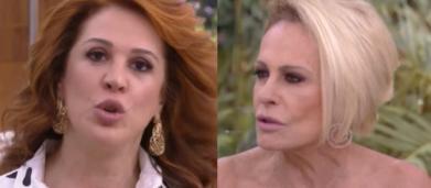 Claudia Raia dá bronca ao vivo em Ana Maria Braga por dependência do cigarro