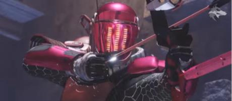 A Guardian with The Vow bow in Destiny 2's Crimson Days event. [Image source: xHOUNDISHx/YouTube]