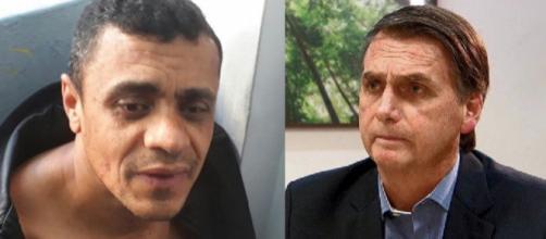 Adélio Bispo e Bolsonaro (Reprodução RecordTV)
