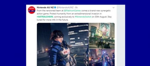 ASTRAL CHAIN is a new game coming for Nintendo Switch, teaser dropped - Image credit - Nintendo AU NZ | Twitter
