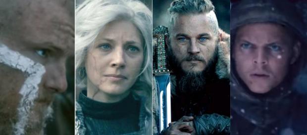 Bjorn, Lagertha, Ragnar e Ivar (Foto - Reprodução/History)
