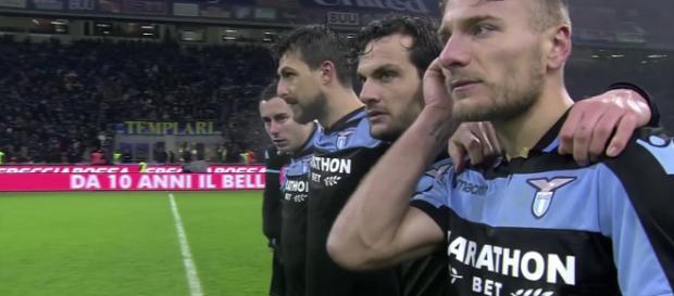 Giocatori della Lazio impegnati in Coppa Italia