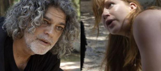 Luz e Murilo na novela O Sétimo Guardião (Reprodução/G1)