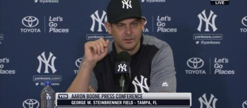 Aaron Bone he believes he has the team that will start opening day. [Image Credit: YESN - YouTube]