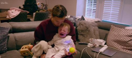 Ferne gives viewers a candid look into life as a single parent with a sick baby (Image credit: Ferne Mcann: First Time Mum/ITVhub)