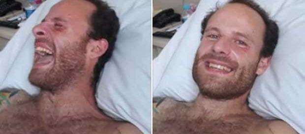 Vitor Morosini em recuperação no hospital em Barretos (Foto: Reprodução)