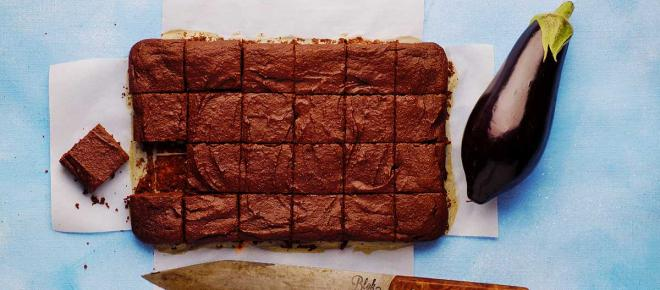 Brownies vegani al cioccolato fondente e alle melanzane