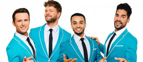 Harry Judd, Jay McGuiness, Aston Merrygold & Louis Smith - 'Rip it Up'. the musical Photo credit: Target - Live