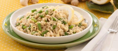 Ricetta quinoa al pesto di fagiolini.
