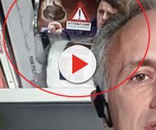 Il fotogramma incriminato del collegamento tv di Travaglio per cui Renzi ha annunciato querela.