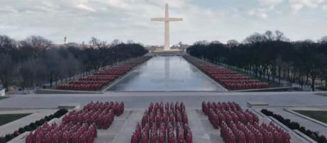 "This image was captured from the latest teaser trailer for ""The Handmaid's Tale"" Season 3. [Image Hulu/YouTube]"