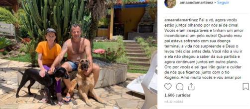Philomena Quattrucci morre três dias depois do filho - Foto/Reprodução/Instagram