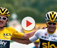 Geraint Thomas al Tour de France con Chris Froome