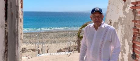El presidente Andrés Manuel de visita en las Islas Marías - Fotografía vía Twitter @lopezobrador_