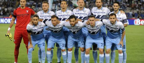 La Lazio in una partita di Europa League