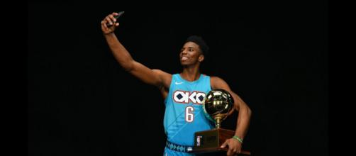 The Oklahoma City Thunder's Hamidou Diallo was among the winners for NBA All-Star Weekend 2019. - [Bleacher Report / YouTube screencap]