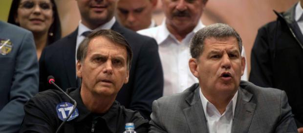 Bolsonaro e Bebianno juntos (Reprodução: Site oficial PSL)