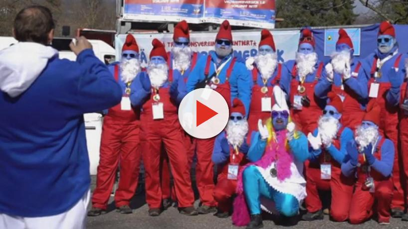 German town hit by Smurf invasion in Guinness World Record attempt