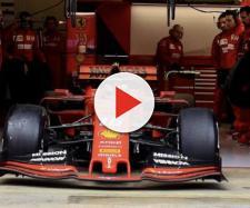 La Ferrari di Charles Leclerc, il più veloce nel secondo giorno dei test pre-season in F1