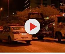 Os suspeitos foram presos após a colisão. (Reprodução/RBS TV)