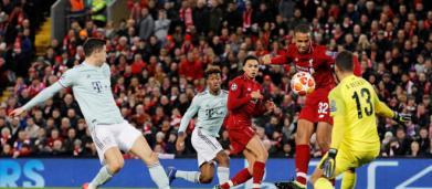 UEFA Champions League: Bayern y Liverpool empatan a 0 en partido electrizante en Anfield