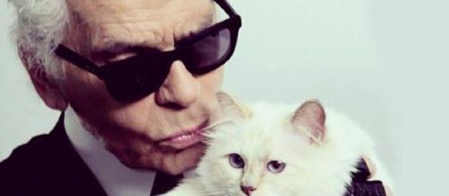 Karl e la sua amatissima gatta Choupette