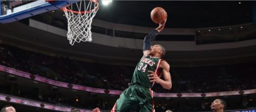Milwaukee Bucks star Giannis Antetokounmpo will captain one team in the 2019 All-Star Game. - [NBA / YouTube screencap]