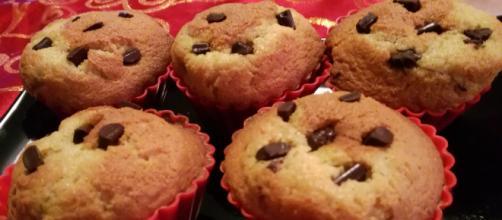 Ricetta muffin con gocce di cioccolato.