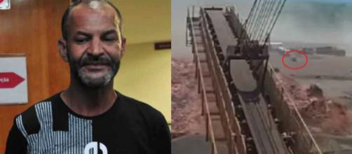 Sebastião se salvou da tragédia em Brumadinho (Reprodução TV Globo)