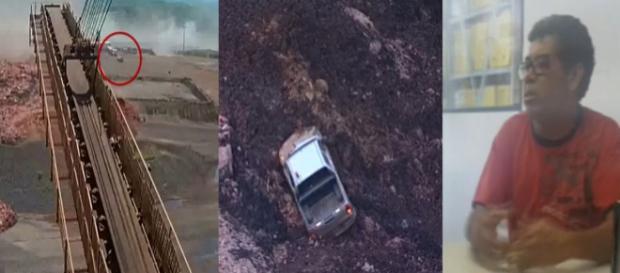 Sebastião e Elias sobreviveram a explosão da barragem de Brumadinho (Foto: TV Globo/Montagem Guti Muszynski)