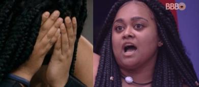BBB19: Rízia chora e fala em desistir após ser acorrentada a colegas