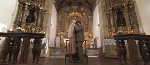Danilo e Julia se casam secretamente (Reprodução/TVGlobo)