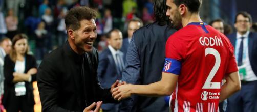 Diego Simeone e Godin, secondo Matallanas un giorno potrebbero ritrovarsi all'Inter