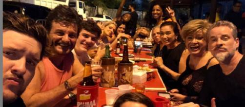 Festa de comemoração de O Sétimo Guardião (Reprodução/Instagram/@nanypeople)