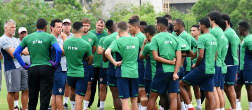 Jogadores do Fluminense não vão ao treino em forma de protesto. (Foto: Divulgação/ Fluminense)