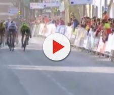 La volata vincente di Matteo Trentin nella seconda Tappa della Vuelta a Andalucia