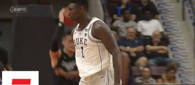 Duke star Zion Williamson injures knee in freak accident