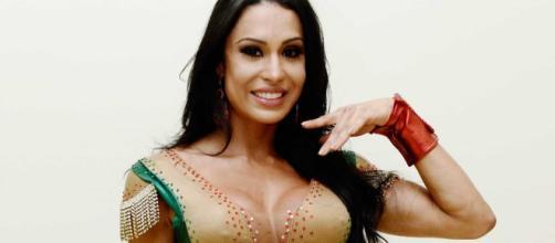 A rainha de bateria Gracyanne Barbosa (Reprodução)