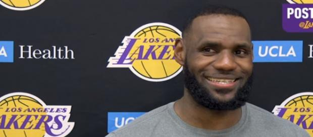 LeBron James comments on Zion Williamson's Nike shoe blowout - Image credit - Los Angeles Lakers | YouTube