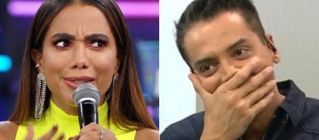 Leo Dias promete revelar segredos de Anitta em seu livro. (Foto: Reprodução/TV Globo & SBT)