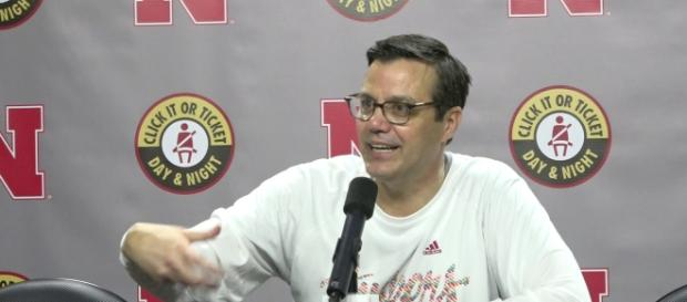 Nebraska basketball coach under fire for thoughtless comments. [Image via HuskerOnline Video/YouTube]