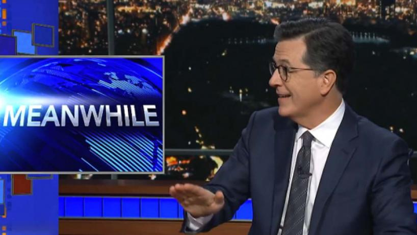 Stephen Colbert's Meanwhile exposes five odd items not in the headlines