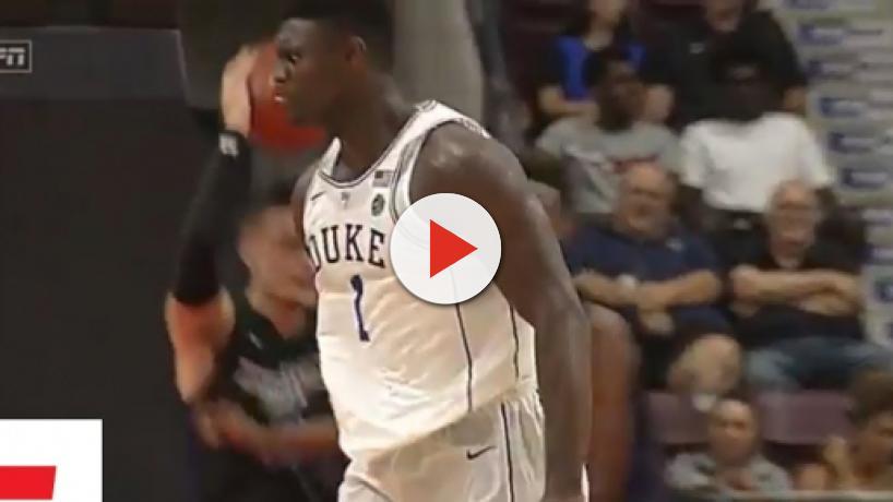 Duke star Zion Williamson injures knee in freak accident