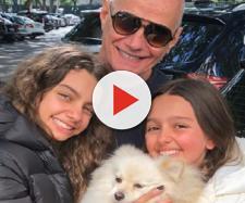 Ricardo Boechat, filhas e cadela Nina (Reprodução Instagram)