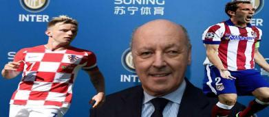 Godin e Rakitic potrebbero essere i primi tasselli di Marotta per un'Inter da Champions